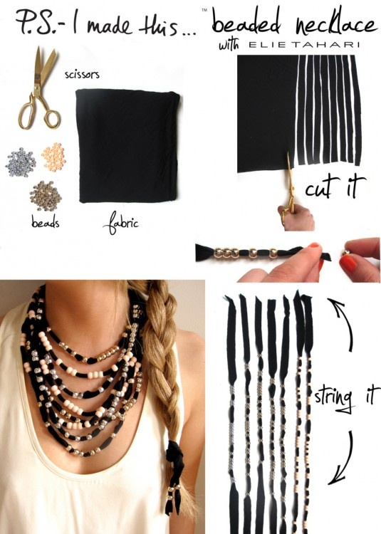 Amazing diy jewelry eat drink shop diy chunky necklace from psimadethis solutioingenieria Images